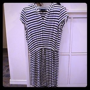Blue & White striped dress